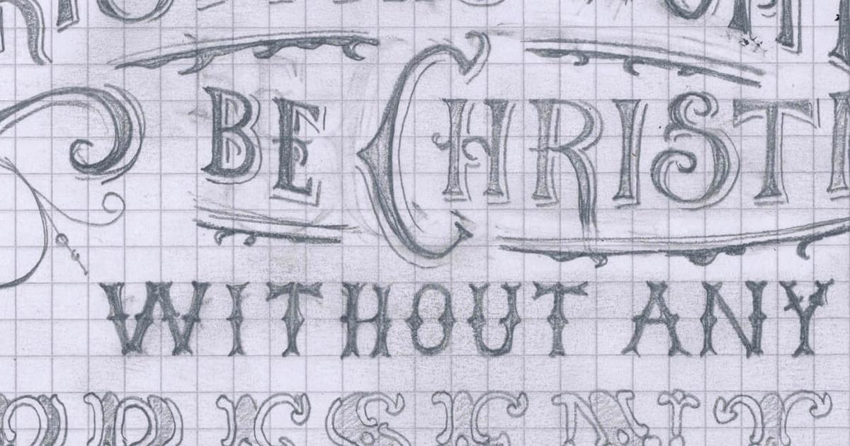 Tegn retro-inspireret typografi i hånden