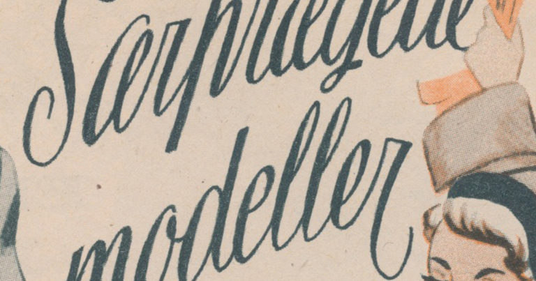 Smuk vintagekalligrafi