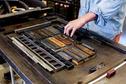 Letterpress workshop på Holmen · dag 1