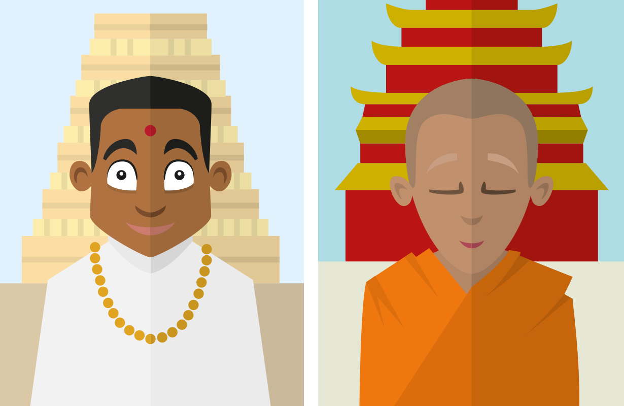 illustration-illustrator-tegning-tegner-religion-kristendom-buddisme-malene-hald-folkeskolen-undervisning-8a