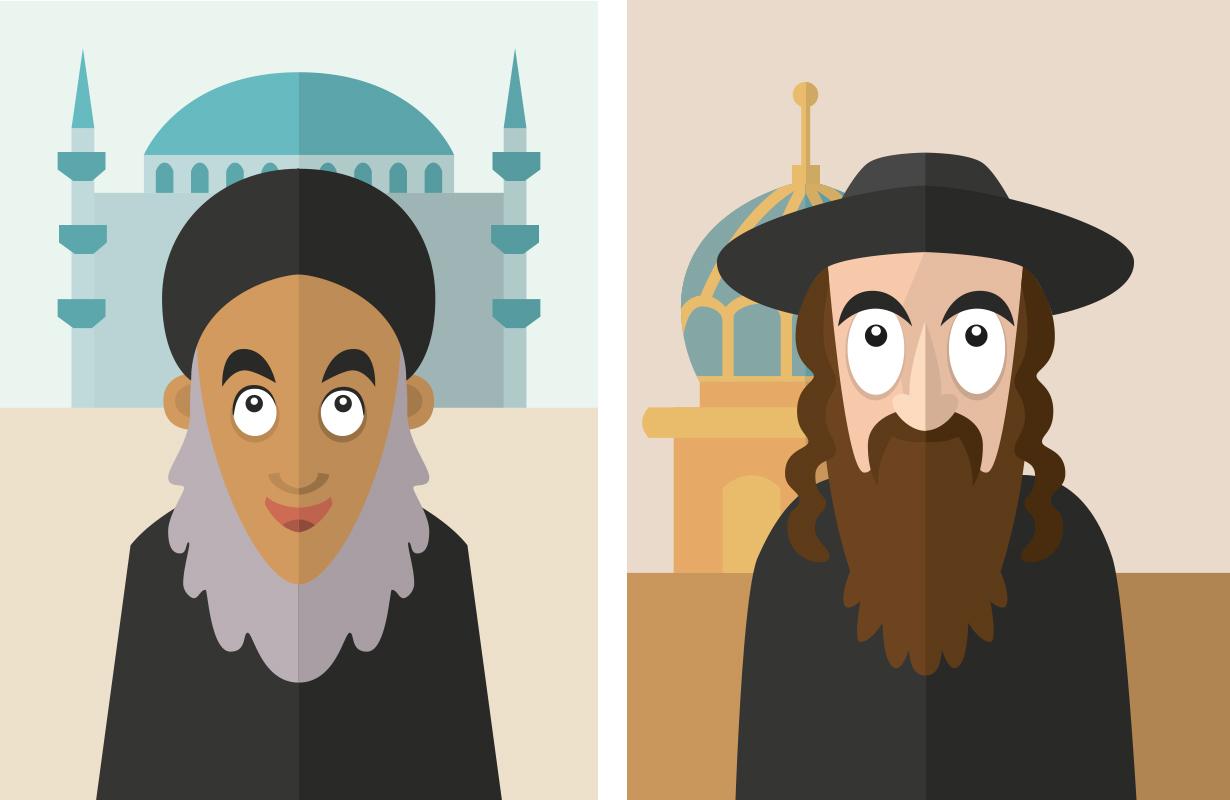 illustration-illustrator-tegning-tegner-religion-kristendom-buddisme-malene-hald-folkeskolen-undervisning-6