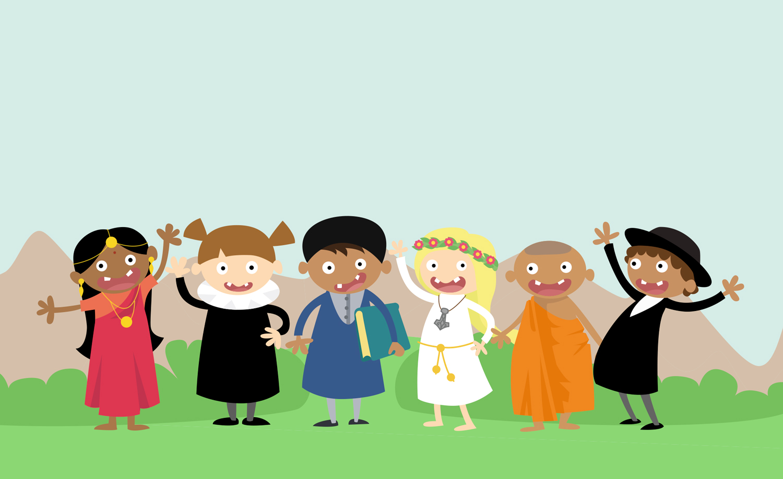illustration-illustrator-tegning-tegner-religion-kristendom-buddisme-malene-hald-folkeskolen-undervisning-
